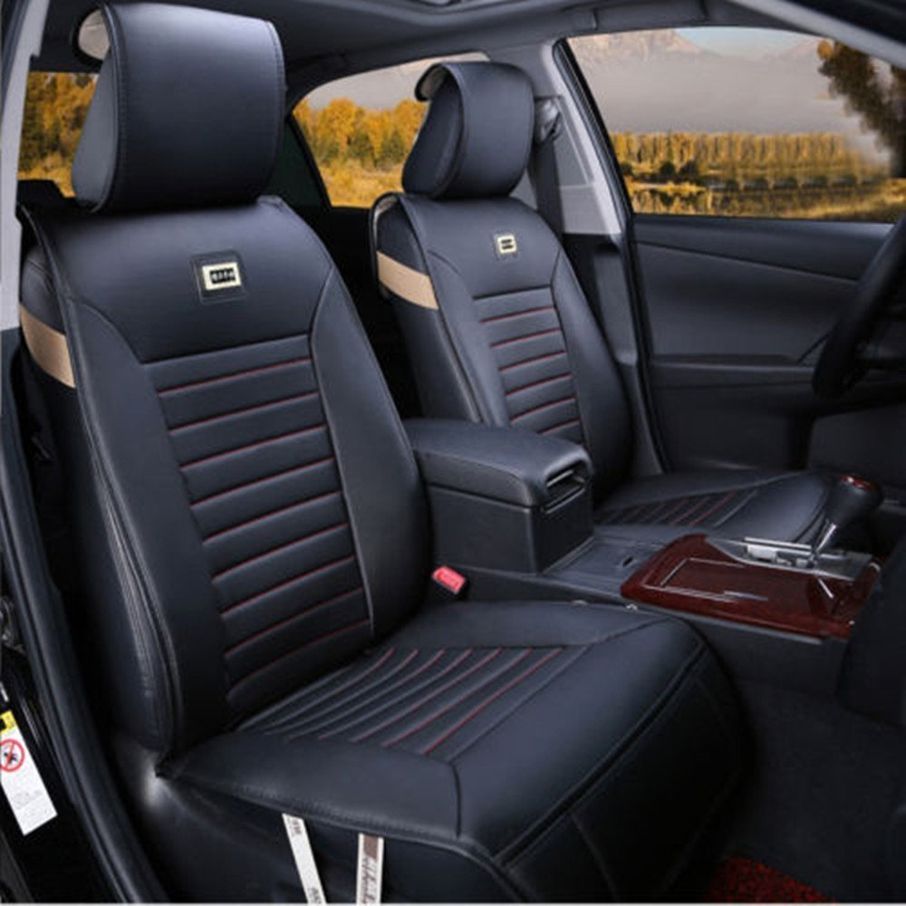 Moonet classic generic 3 colors car seat covers needlework pu leather car seat cushion 10pcs