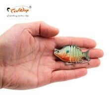 Realista isca de pesca 6 segmento swimbait crankbait duro isca lenta 9g 5cm fishhooks wobblers enfrentar ld601