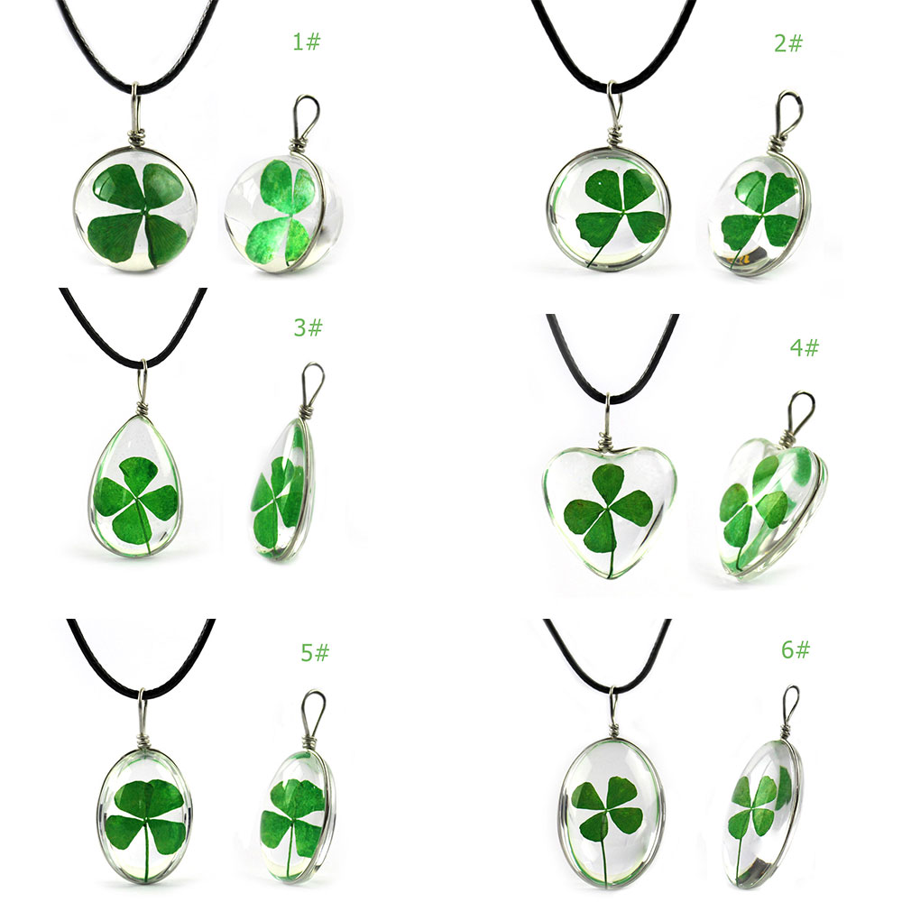 Marines Good Luck and Clover 3 Bead Necklace