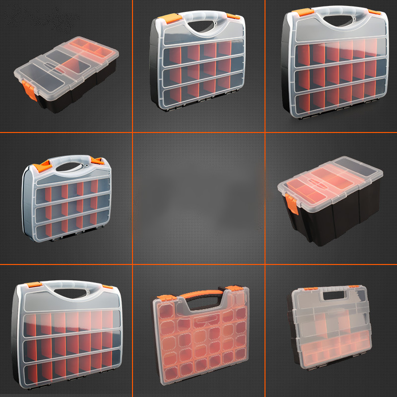 Practical ABS plastic screw tool storage box with locking screwdriver hardware accessories toolbox auto repair tool box hss broken screwdriver wiper breakage screw removal tool screwdriver double headed wire cutter woodworking hardware