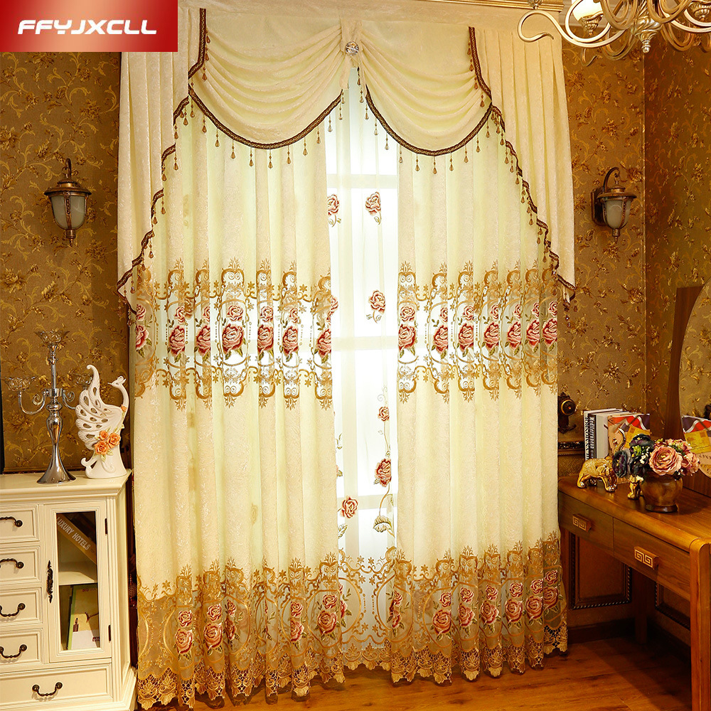 online get cheap valances window treatments aliexpress com pastoral custom made embroidered decoration cloth curtain valance for living room bedroom window treatment drapes tulle
