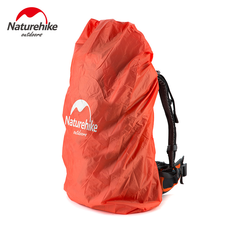 NatureHike Bag Cover 20~75L Waterproof Rain Cover For Backpack Camping Hiking Cycling School Backpack Luggage Bags Dust Covers 210d rain bag 30 40l protable nylon waterproof backpack anti theft outdoor travel camping hiking cycling dust rain cover