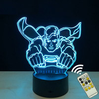 Marvel Superman 3D Night Lights Novelty Iron Man 3D Touch Table Lamp 7 Color RGB 3D