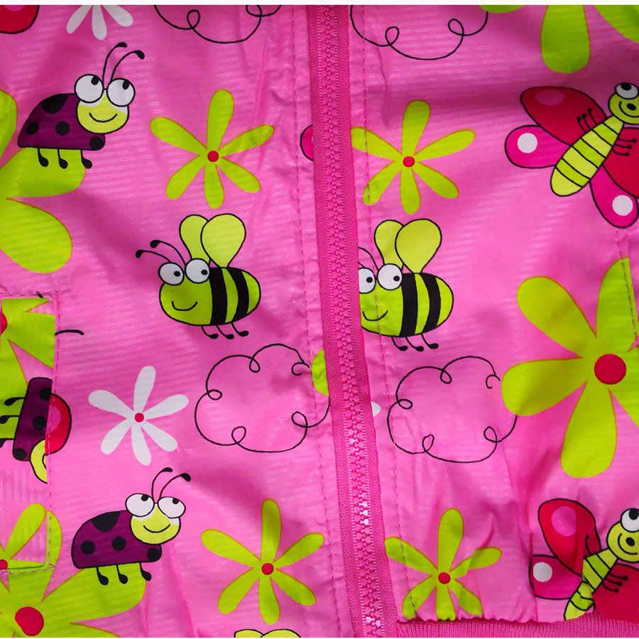 Casaco de meninas para outono, rosa, bonito, para atividades ao ar livre, com desenho, jaqueta para meninas de 2 3 4 anos, roupa exterior agradável roupa infantil