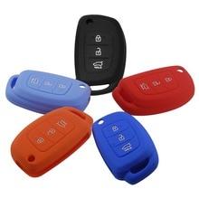 Силиконовые Флип Дистанционный Ключ Чехол Для Hyundai Avante Портер Grandeur Соната Santafe i30 HB20 Solaris ix35 3 Кнопки Стиль С логотип