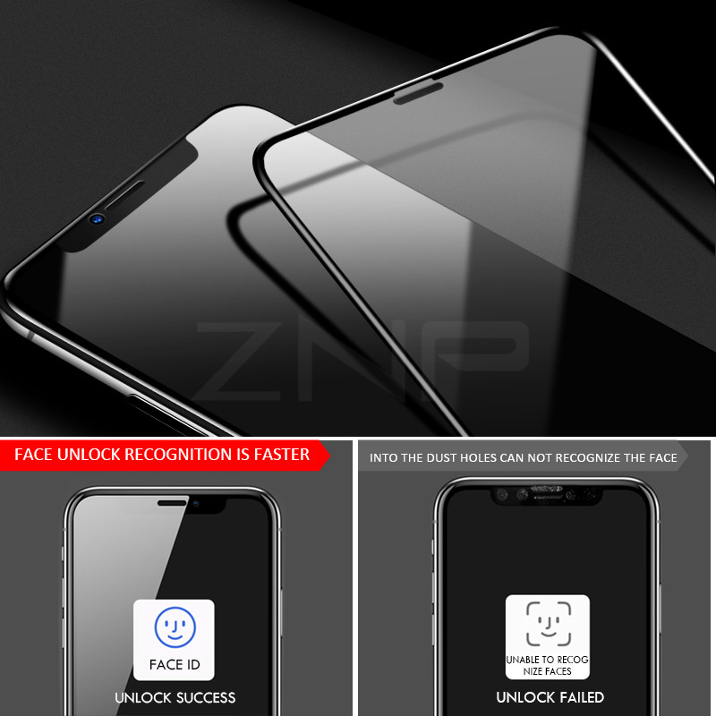 Image 3 - ZNP 100D Protective Glass for iPhone 7 Screen Protector iPhone 8 Xr Xs Xs Max Tempered Glass on iPhone X 6 6s 7 8 Plus Xs Glass-in Phone Screen Protectors from Cellphones & Telecommunications