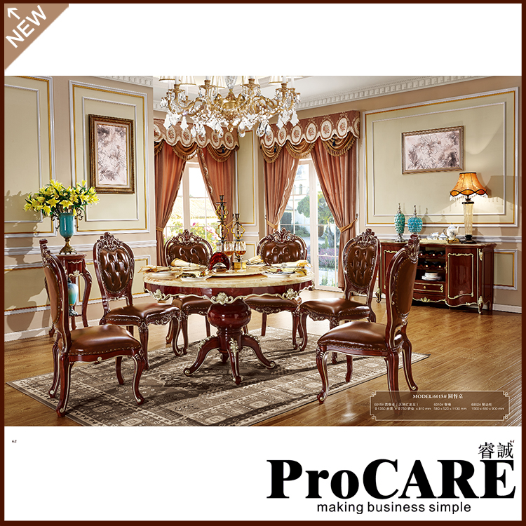 Solid Wood Dinning Table With Dining Room Set 6 Chairs