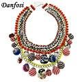 Dafosi Charm Women Accessories ZA Brand Jewelry Fashion Multicolor Balls Vintage Chunky Choker Big Collar Necklace Statement