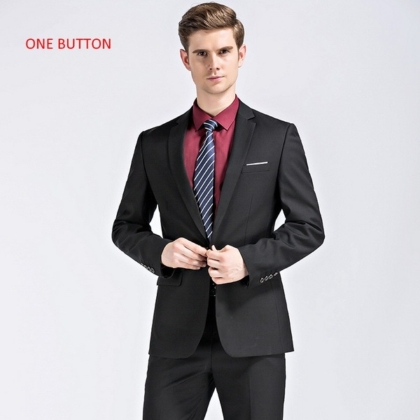 black with 1 button