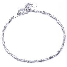 0a9e880ab4be Glitzy PT950 blanco platino oro barra torcida enlace cadena pulseras  brazaletes para mujeres mujer boda compromiso regalo de la .