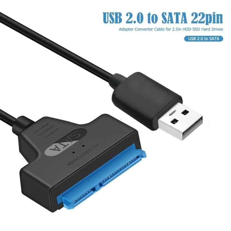 USB 2.0 إلى SATA 22Pin عالية السرعة 480Mbps الطاقة الخارجية محول النحاس سلك الأساسية و ABS محول كابل أقصى دعم 3 تيرا بايت