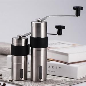 Image 1 - 2 サイズマニュアルセラミックコーヒーグラインダーステンレス鋼調節可能なコーヒー豆ミルゴムループリング簡単にきれいなキッチンツール