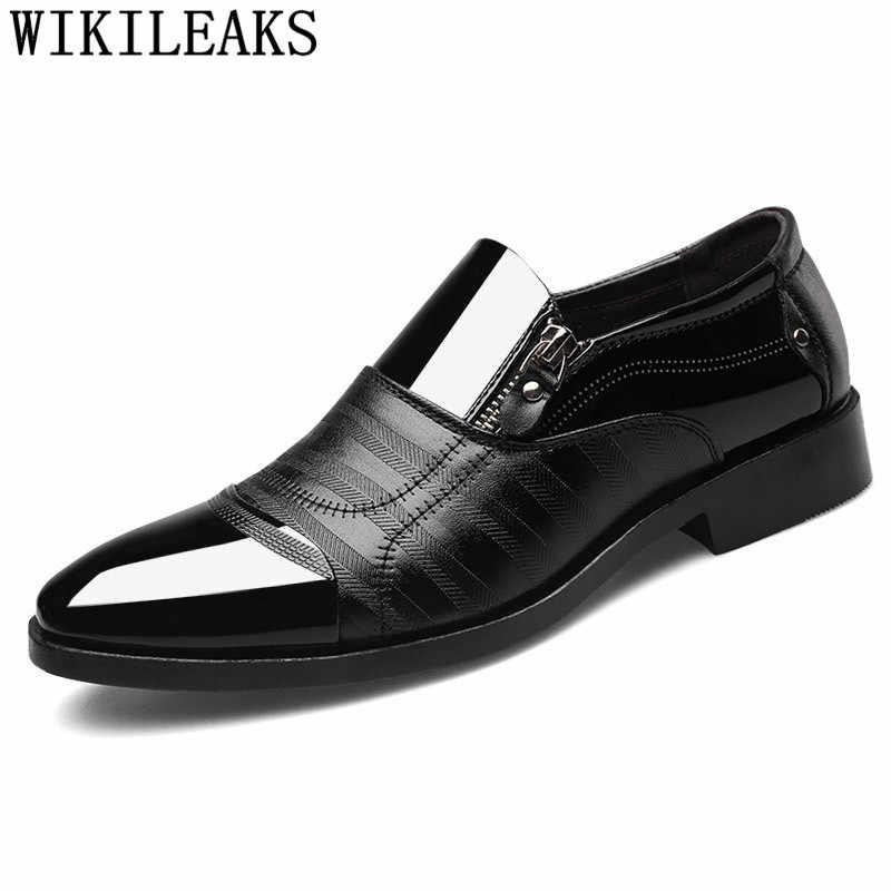Итальянская Брендовая обувь из лакированной кожи; мужские лоферы; дизайнерские оксфорды на молнии; Мужские модельные туфли; мужские мокасины; homme herren schuhe