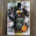 Jack Daniel Old Time Quality NO7 Brand Jennessee Sour Mash Whiskey Vintage home decor 20*30  Bar Cafe Shabby Chic Wall Decor