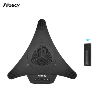 Aibecy MST-X1W 2.4g беспроводное устройство USB Video Conference микрофон громкой 6 м 360D Аудио Пикап для компьютера телефон Skype MSN QQ