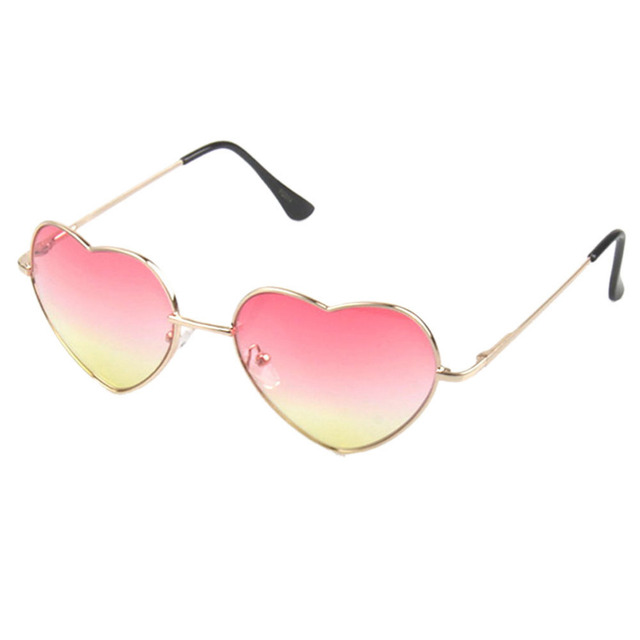 a76f006931 Brand Designer Heart Shape Sunglasses Women Metal Reflective Frame Summer  Luxury Sun Glasses