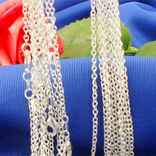 "Wholesale! 10pcs/lot Fashion Silver Necklaces Chains,2mm 925 Jewelry Silver Plated ""O"" Shape Chain Necklace 16""-30"",Pick Length"