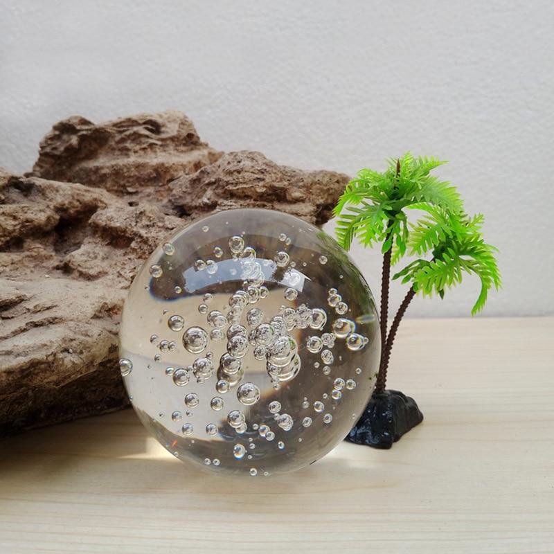 jqj canicas de cristal burbujas fuente de interior bola de feng shui fuente de agua decorativa
