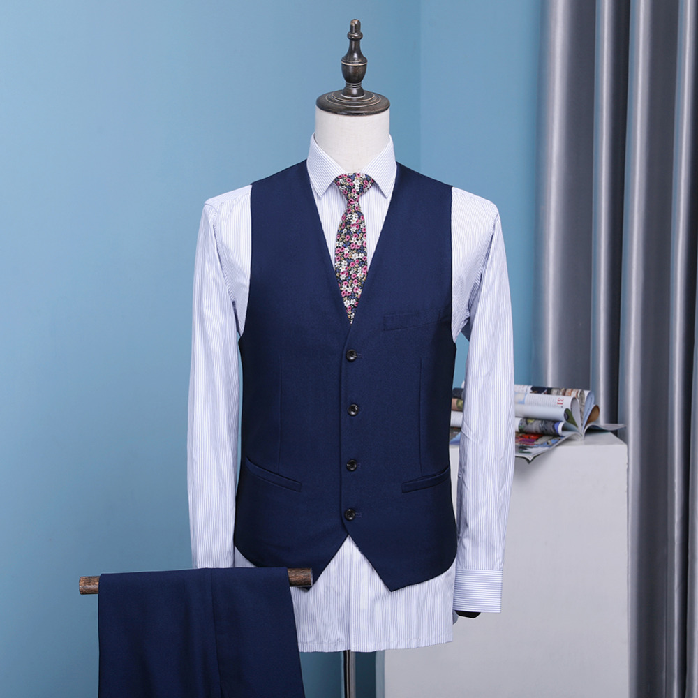 Mens 3 Pieces Classic Shawl Collar Tuxedos Jacket+Pant+Vest Wedding ...