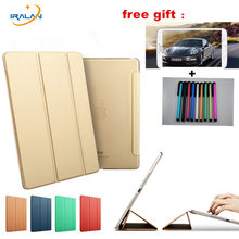 Novo smart cover para iPad mini 1 2 3 7.9 polegadas de Cor Ultra Fino Couro PU + Transparente Volta Do Zero-Resistente Case + film + stylus(China)