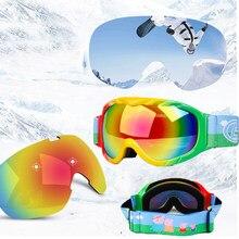 3d8faed22f Gafas de esquí de invierno para niños máscara de nieve doble capa antiniebla  Snowboard máscara gafas