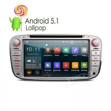 """7 """" Android 5.1  Car dvd player  For Ford Focus Mondeo / S-max / Galaxy Tourneo  Transit Connect 2010 With GPS Navigator FM WiFi"""