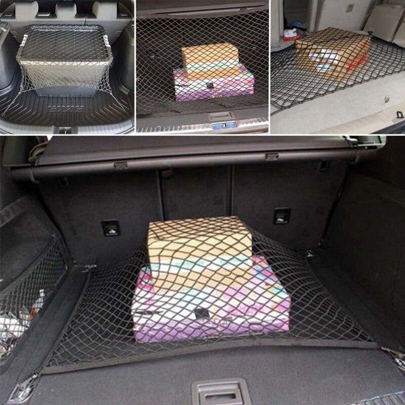 Suv Cargo Organizer >> Us 5 41 5 Off Car Offroad Suv Rear Trunk Boot Floor Cargo Organizer Storage Net Elastic Mesh Storage Fixed Set In Nets From Automobiles