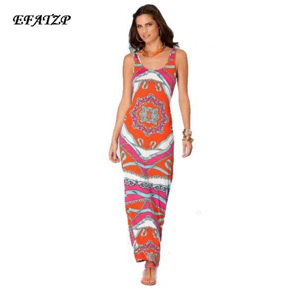 Crazy Promotion New IN Jersey Silk Dress Women s Geometric Chain Print Sheath Tank Dress Plus
