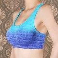 2017 Mulheres Da Aptidão do Exercício Yogaing Gymming Roupas Bra Sono Menina Underwear Veste Roupas Esportivas Corre Push Up Tops Camisas Tanque