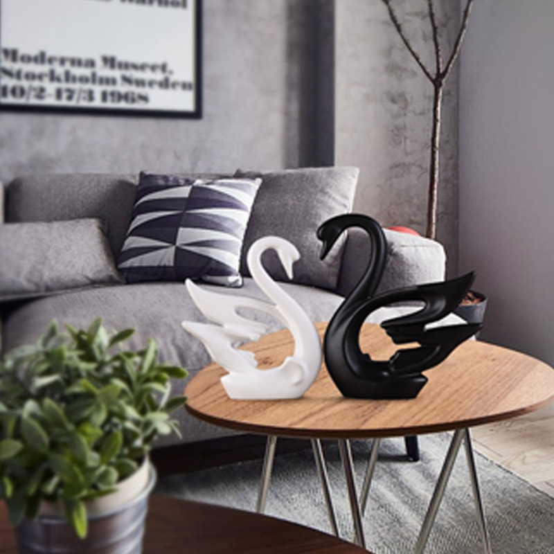 Креативная Керамическая маленькая декоративная фигурка животного олень украшение домашнего декора керамическое ремесло творчества - 5