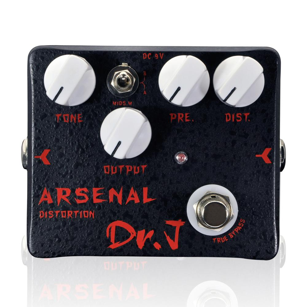 Dr. J Arsenal Distortion Electric Guitar Accessories Effect Pedal Overdrive Hand Made Broad Tone Adjustments True Bypass D51