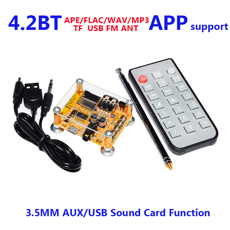 2019 Fashion 1set 4.2 Bluetooth Mp3 Ape Decoding Board Car Wireless Fm Ant Speaker Audio Receiver Module Support Usb/tf/u-disk/ir Remote App Sufficient Supply