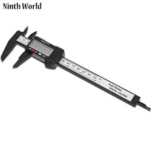 Sale Ninth World 6inch /150mm LCD Digital Electronic Carbon Fiber Vernier Caliper Micrometer Measurement Tool Free Shipping