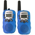 2 Pieces T-388 0.5W 1.0 inch LCD 5KM Walkie Talkie, Baby Blue