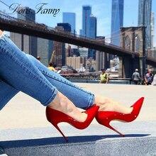 DorisFanny Classic Red bridal shoes woman high heels party wear shoes for women 8cm/10cm/12 cm Stilettos