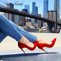 DorisFanny Classic Red bridal shoes woman high heels party wear shoes for women 8cm/10cm/12 cm Stilettos
