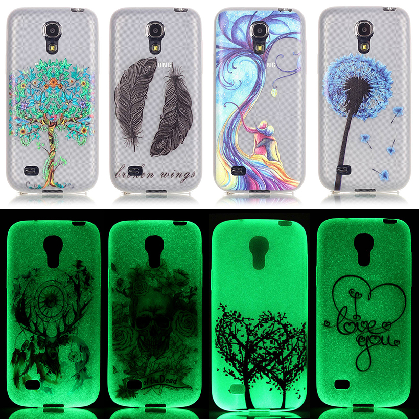Silicon Phone Cases For Samsung I9190 Galaxy S4 Mini Duos SIV Mini I9195 I9197 I257M GA009 S4mini GT-i9190 Luminous Bags Covers