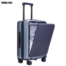 Conte de voyage, boîte à bagages pour hommes, 20 pouces, avec ordinateur portable, petite cabine valise de voyage boîtier de chariot, boîte à bagages PC pur