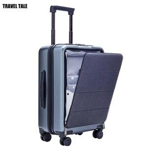 Image 1 - Conte de voyage, boîte à bagages pour hommes, 20 pouces, avec ordinateur portable, petite cabine valise de voyage boîtier de chariot, boîte à bagages PC pur