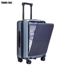 """DU LỊCH TÍCH 20 """"inch nam mang theo trên laptop du lịch nhỏ Vali cabin xe đẩy Ốp lưng hành lý hộp PC nguyên chất"""