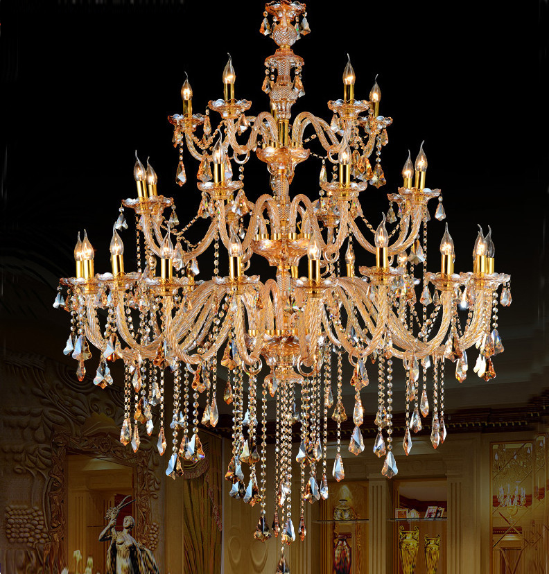 Large Chandeliers Modern Large Crystal Chandelier Lighting Dining Room Contemporary Chandelier ...