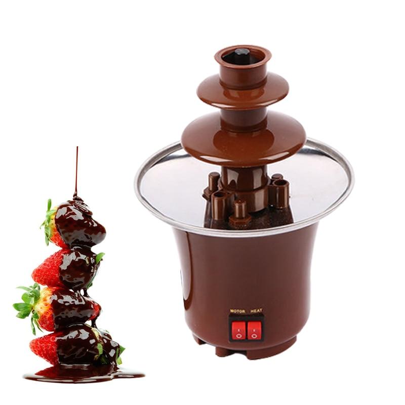 110 V/220 V Mini fontaine à chocolat Design créatif fondant au chocolat avec chauffage Fondue cascade fabricant pour fête d'anniversaire de mariage