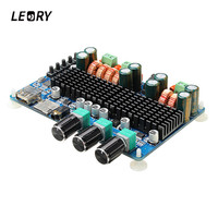 LEORY SW HF41 TPA3116 CH2 1 Digital Amplifier Board Wireless Bluetooth USB TF Audio Amplifier Chip