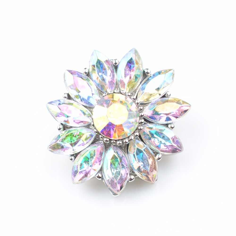 Coloridos botones a presión de 18mm de Zincon, broches de metal para pulseras a presión que se ajustan a ginger snaps jewelry NC5004