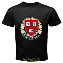 GILDAN Harvard University Logo White Black T Shirt Size S 3XL 3D Men Short Sleeve