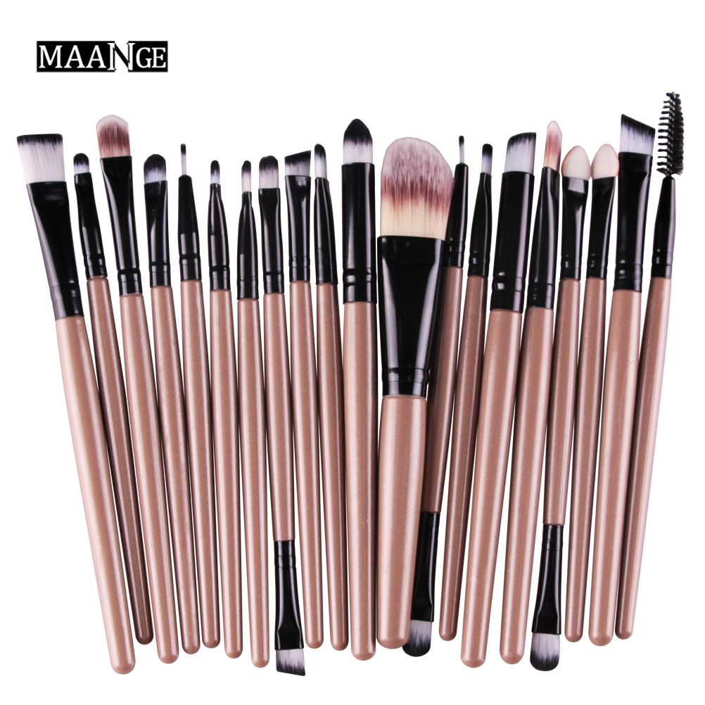 20Pcs Makeup Brushes Set Pro Powder Blush Foundation Lip Eyebrow Eyeshadow Eyeliner contour Concealer Gold Brush tools kit 20pcs gold makeup brushes set powder blush foundation eyeshadow eyeliner lip cosmetic brush kit beauty tools brochas maquillaje