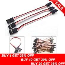 10 шт., 100 мм, 150 мм, 200 мм, 300 мм, сервоудлинитель со штыревыми соединителями для штепсельной вилки JR, сервопривод, удлинитель, провод, кабель 10 см