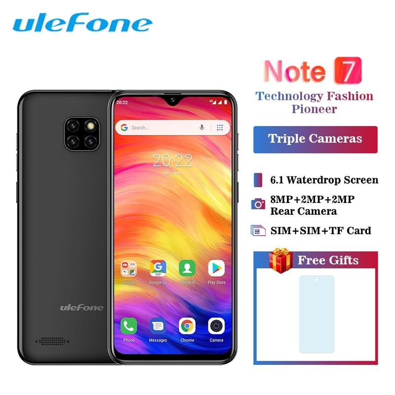 Купить Смартфон Ulefone Note 7 Android 8,1 3500 мАч 19:9 6,1 дюймов экран капли воды четырехъядерный 1 ГБ 16 ГБ Лицо ID мобильный телефон на Алиэкспресс