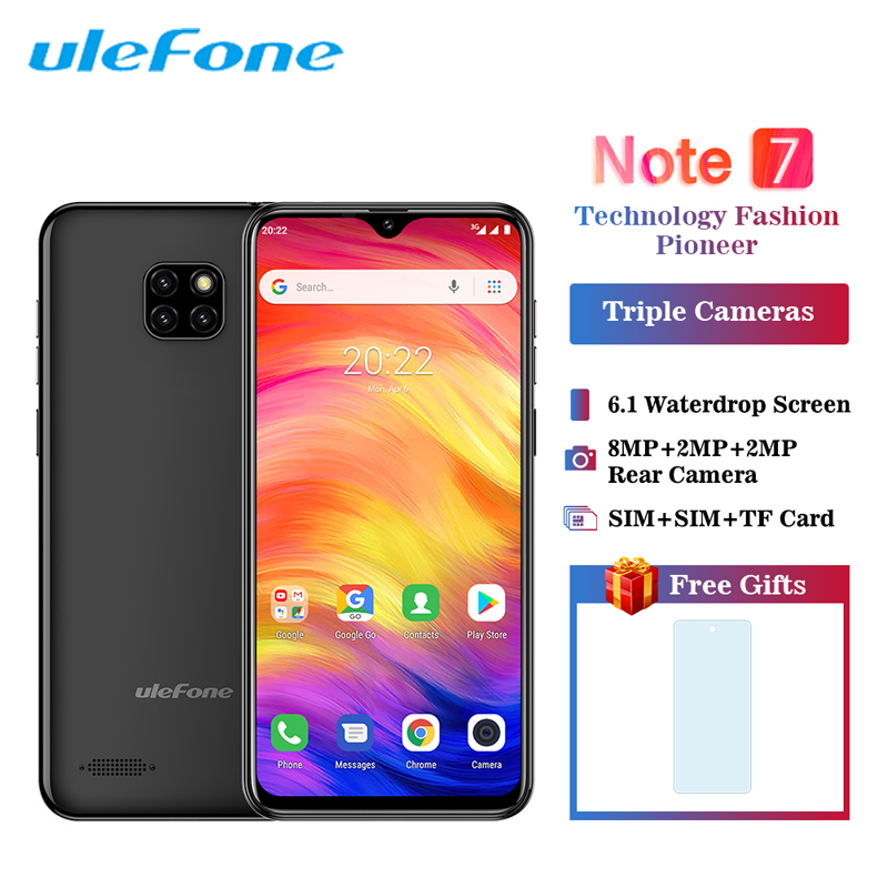 Ulefone Note 7 Smartphone Android 8.1 3500mAh 19:9 6.1 inch Waterdrop Screen Quad Core 1GB 16GB Face ID Mobile Phone CellphoneUlefone Note 7 Smartphone Android 8.1 3500mAh 19:9 6.1 inch Waterdrop Screen Quad Core 1GB 16GB Face ID Mobile Phone Cellphone