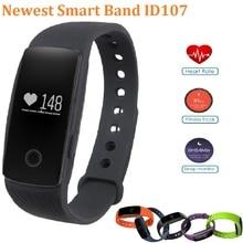 ID107 Monitor Del Ritmo Cardíaco de Bluetooth 4.0 Pulsera Inteligente Muñequera band 107 PK Gimnasio Rastreador Fitbit para iPhone xiaomi Mi Banda 2